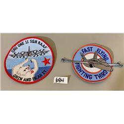 FAST FLYING FIGHTING THIRD BADGE & 11 SQN RAAF BADGE