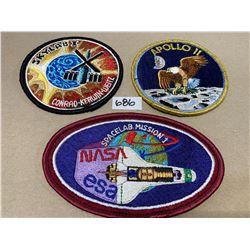 NASA APOLLO 11 & SKYLAB 1 MISSION BADGES