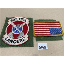 US AIR FORCE 333 TFTS F-15 & US FLAG FLIGHT JACKET PATCHES