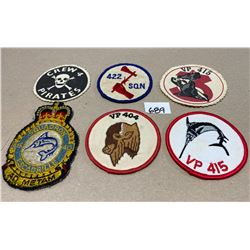 6 X RCAF 404 / 415 / 422 CREW PATCHES