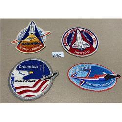 4 X NASA SPACE SHUTTLE BADGES