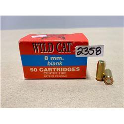 50 X WILD CAT 8 MM BLANKS