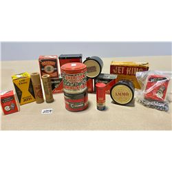COLLECTION OF AIR RIFLE COLLECTIBLE TINS & BOXES - QTY OF PELLETS