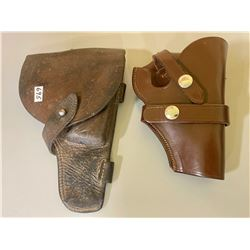 LOT OF 2 LEATHER HOLSTERS