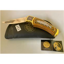 FRANKLIN MINT COLLECTORS KNIFE W/ CASE - AS NEW