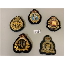 LOT OF 5 MILITARY CRESTS