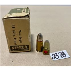 25 X SELLIER & BELLOT 9 MM LUGER / .38 AUTO