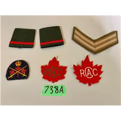 LOT OF 6 CANADIAN ARMY CADET BADGES