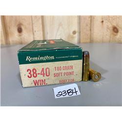 50 X REMINGTON .38 - 40 WIN 180 GR
