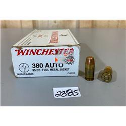 50 X WINCHESTER .380 AUTO 95 GR