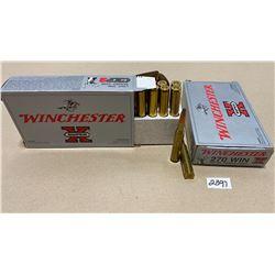 40 X WINCHESTER .270 WIN 150 GR