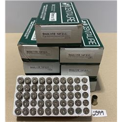 350 X CENTAURE 9 MM X 19 NICKEL CASES