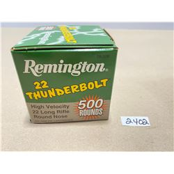 500 X REMINGTON .22 THUNDERBOLT