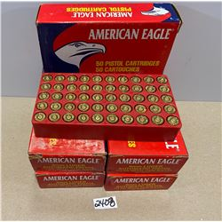 250 X AMERICAN EAGLE .9 MM LUGER BRASS