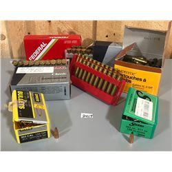 135 X .303 BRIT BRASS & APPROX 130 X  BULLETS