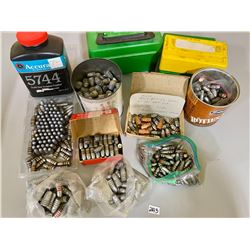 QTY OF MISC BULLETS  EMPTY CASES