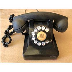 VINTAGE BAKELITE ROTARY TELEPHONE