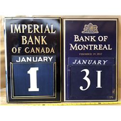 IMPERIAL BANK OF CANADA & BANK OF MONTREAL DAY CALENDARS - COMPLETE