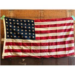 """CLOTH 48 STAR AMERICAN FLAG - 32"""" X 54"""""""