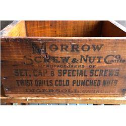 MORROW SCREW & NUT CRATE - INGERSOLL