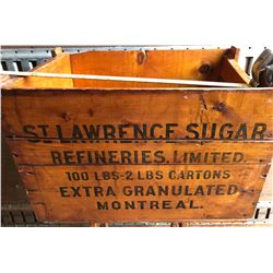 ST LAWRENCE SUGAR CRATE