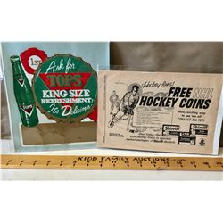 LOT OF 2 VINTAGE ADVERTISING PIECES