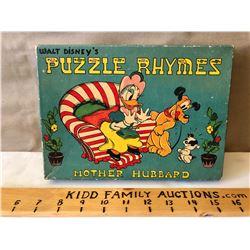 WALT DISNEY'S 4 PUZZLE SET
