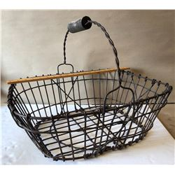 ANTIQUE WIRE EGG BASKET