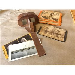 ANTIQUE STEREOGRAPH W/ ORIGINAL IMAGES