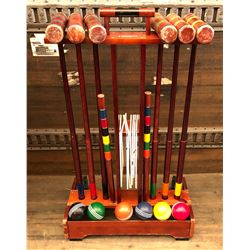 RESTORATION HARDWARE CROQUET SET - COMPLETE