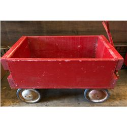 VINTAGE WOODEN CHILD'S WAGON - FOLK ART STYLE