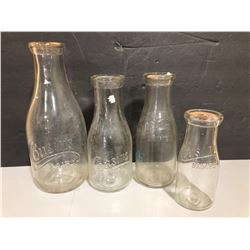 ANTIQUE COUSIN'S DAIRY MILK BOTTLES - ? FROM NEWMARKET