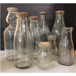 LOT OF 9 VARIOUS MILK / CREAM BOTTLES FROM THE TORONTO AREA