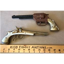 LOT OF 2 TOY HANDGUNS
