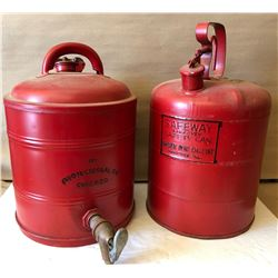LOT OF 2 VINTAGE FUEL CANS