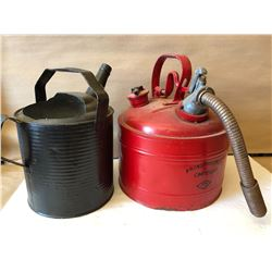 WATERING CAN & FUEL CAN LOT