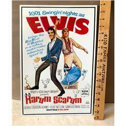 HARUM SCARUM TIN MOVIE SIGN FEATURING ELVIS