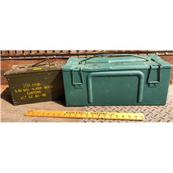LOT OF 2 METAL AMMO BOXES - 1945
