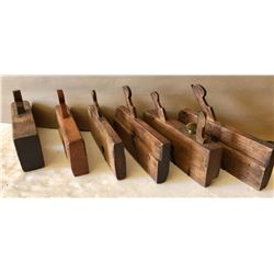 LOT OF 6 ANTIQUE WOOD PLANES - VARIOUS WIDTHS