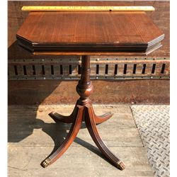 ANTIQUE SIDE TABLE W/ CLAW FEET