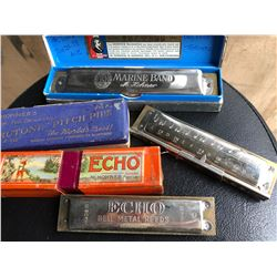 LOT OF 3 M. HOHNER'S HARMONICAS