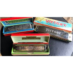 LOT OF 2 M. HOHNER'S HARMONICAS & 1 X VICTORY HARMONICA