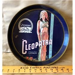 VINTAGE BEER TRAY ADVERTISING THE 1934 CLEOPATRA FILM