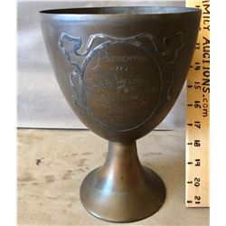 ANTIQUE BRASS TROPHY FOR THE OTTAWA HORSE SHOW
