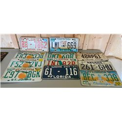 LOT OF 11 LICENCE PLATES FROM FLORIDA