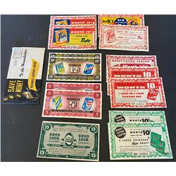LOT OF 1950'S SCARCE COLGATE SUPERMARKET COUPONS