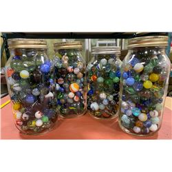 QTY OF VINTAGE COLLECTIBLE MARBLES