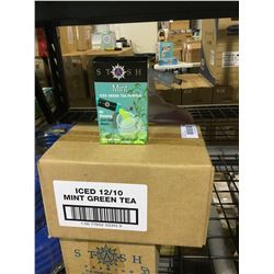 Case of Stash Mint Iced Green Tea Powder (12 x 20g)