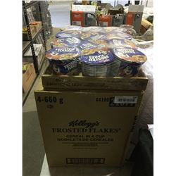 Case of Kellog'sFrosted Flakes Cereal Cups (4 x 660g)