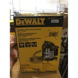 Dewalt Stainless Steel Wet/Dry Vacuum (38L)
